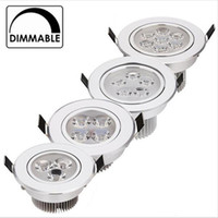Wholesale pure white bedding online - 9W W LED Downlight Dimmable Warm White Nature White Pure White Recessed LED Lamp Spot Light AC85 V