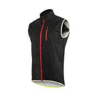 arsuxeo ceket toptan satış-Arsuxeo 17V2 Rüzgar Geçirmez Su Geçirmez Bisiklet Kolsuz Yelek Ceket MTB Bisiklet Yansıtıcı Güvenlik Giyim Açık Sportwear Rüzgar Coat