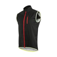 Wholesale cycle safety clothing online - Arsuxeo V2 Windproof Waterproof Cycling Sleeveless Vest Jacket MTB Bike Reflective Safety Clothing Outdoor Sportwear Wind Coat