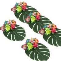 rücktisch großhandel-Die TTurtle Zurück Blatt Simulation Blume Party Dekoration grenzübergreifenden Tisch Rock Liefert Passende Geschenke Heißer Stil