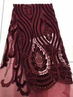 Wholesale embroidered tulle fabrics - EPY1027 Latest African Laces Fabrics Embroidered Stones African French Tulle Lace Fabric 2018 African French Net Lace Fabric