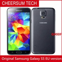 Wholesale cellphone super camera for sale - Original Unlocked Samsung Galaxy S5 G900A G900T G900V G900F Cell Phones quot Super AMOLED Quad Core GB ROM Android Mobile Phone Refurbished