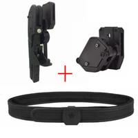 4x Pistol Magazine Pouch 1 Quick Draw Holsters IPSC USPSA IDPA Shooting Belt