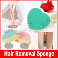 Wholesale hair removal pads resale online - Magic Painless Hair Removal Sponge Pad Depilation Sponge Pad Remove Hair Remover Effective Skin Beauty Care Tools