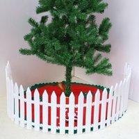 ingrosso recinzione in plastica-Spedizione gratuita 5pcs recinzione di plastica recinzione giardino decorato bianco aiuola giardino asilo recinto di Natale piccolo