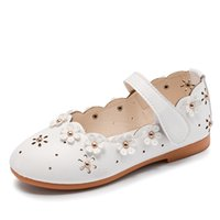 Wholesale Heel Sandals Online - Summer Kids Girls Sandals Princess Girls Shoes Size 9 Solid Color Hollow With Small Flower Decoration Online Best Price
