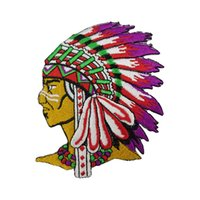 Wholesale indian clothing free shipping for sale - Small Size Cool Indian Embroidery Patches Freedon Patches for Clothing Jacket