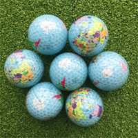 Wholesale gifts globe resale online - Golf New Ball Articles Globe Double Ball Gift Crystal Clear Ball Snow Earth Home Furnishing Decoration Strike hc dd