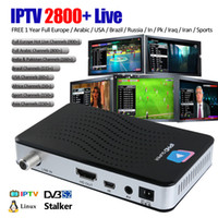 Wholesale pc servicing - DVB S2 Smart TV Box Linux OS with 1 Year IPTV Service 2800+ channels 4K Mini PC Wifi Stalker