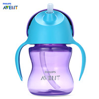 Wholesale avent feeding bottles for sale - Group buy Philips Avent oz ml Baby Soft Handle Straw Bottle Training Drinking Cup Heat Resistant Temperature Bottlees Feeding Gifts