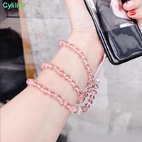 chaîne à main en strass achat en gros de-Lanière de téléphone portable directe d'usine Pure lanière en cristal de lanière en cristal tissée à la main de téléphone portable suspendu à longue chaîne de cou