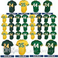 Wholesale Athletic Boy Shorts - Men's Oakland Basebal lJersey Athletic #24 Rickey Henderson #35 Rickey Henderson #44 Reggie Jackson jerseys Embroidery Logos Free Shipping