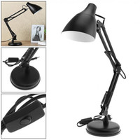 Wholesale swings for sale for sale - Group buy Sale Black E27 Flexible Swing Arm Desk Lamp with Light Base And Clamp Mount Support Degree Rotation for Office Home
