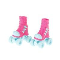 bonecas extravagantes venda por atacado-1 Par 2.8 cm Rolo de Skate Fantasia Boneca Sapatos Brinquedos Para 18 de polegada de Bonecas de Natal Crianças Meninas Presente Toy Play Casa Boneca Acessórios