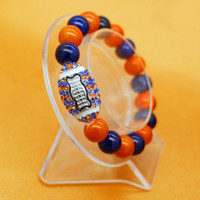 Wholesale bracelet designs for ladies for sale - European and American latest design fashion charm jewelry glass paint beads bracelet surprise gift for ladies