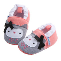 Wholesale Cribs For Baby Girls - Baby Shoes Infant Boys Girls Soft Cotton Crib Anti Slip Moccasins Toddler Cartoon First Walkers for 3-11 Months 8 Styles