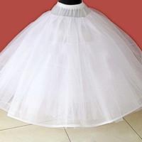 hochzeit petticoats elfenbein großhandel-Tüll Unterrock Hochzeit Zubehör Chemise Ohne Hoops für eine Linie Brautkleid Wide Plus Petticoat Krinoline
