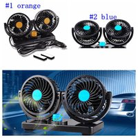 Wholesale cooler fan dc 24v for sale - Group buy DC V V Auto Car Fan Degree Rotatable Powerful ABS Fans Adjustment Dual Head Car Auto Cooling Air Fan LJJM29
