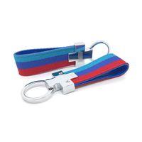 Wholesale bmw x5 e53 for sale - Nylon Leather belt Key Ring Keyring Keychain Germany Flag Key Chain For BMW M Tech M Sport E36 E37 E46 E39 E53 E60 E90 X5