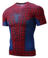 vestuário mens lycra venda por atacado-Nuovo 2018 Homem Aranha Batman Ironman Superman Capitão América o soldado de Inverno Marvel camiseta Vingadores Traje Comics Superhero mens