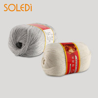 ingrosso seta pestata-Nuovo 50g 1 lana pettinata a mano morbida lana cachemire caldo bambino artigianato filati per maglieria