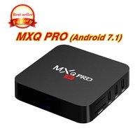 en iyi medya oynatıcı android toptan satış-Best seller Orijinal MXQ PRO 4 K RK3229 Dört Çekirdekli 1 GB 8 GB Android 7.1 TV KUTUSU Ile Özelleştirilmiş 17.5 4 K HDMI Streaming Media Player