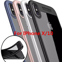 Wholesale Cheap Plastic Iphone Cases - Cheap Phone Cases For iPhone X Phone Cases Back Cover Cases High Quality TPU Clear Shockproof Case Phone Protector