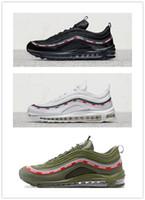 Wholesale x lover - 2018 Undefeated x 97 OG 20 anniversary racer Men Women Lover Running cushion sneaker Sport Shoes TRIPLE BLACK green white