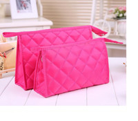 Wholesale cute cosmetic bags sale online - 2018 hot sale cute cosmetic makeup bags waterproof gathering bags with tthree sizes and multicolor for your selection