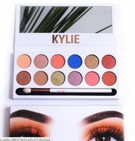 Wholesale pro 12 colors eyeshadow palette - 5AA kylie Beauty shadow palette eyeshadow copy colors Shimmer Matte Eye shadow Pro Eyes TEXTURED STURED SHADOWS PALETTE Makeup Cosmetics