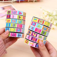 Wholesale math education - Wholesale- Newest Children Education Learning Math Toys Teaching Aids Puzzle Cube for Kids Math Spell Answer Toys Wholesale