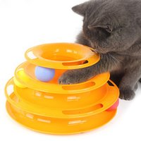 verrückte katzen großhandel-Top Hight Qualität 3 Schichten Lustige Pet Toys Katze Verrückte Kugel Disk Anti-rutsch Interaktive Katze Plattenspieler