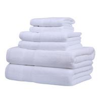 juegos de duchas de lujo al por mayor-Juego de toallas de baño de lujo 1 baño 1 mano 1 toalla de baño toalla de baño algodón Farbic para hombres mujeres