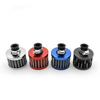 filtros de ar turbo venda por atacado-Filtro de Entrada de Ar Frio Filtro de Ar Do Carro Cone Ventilação Cárter Respiração Pescoço: cerca de 12mm