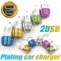 Wholesale samsung electronics online - Universal Mini Car Charger Ports Adapter USB Car charger Auto Electronics Dual USB Ports For Samsung Galaxy