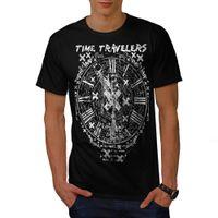 Wholesale fashion clock s online - T Shirt Men Fashion Harajuku Shirt Men s T Shirts Time Travel Clock Vintage Men S XL T ShirtDesign Tops