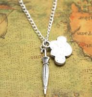 Wholesale rain necklace - 12pcs lot Umbrella necklace Cloud Charm pendant Rain Weather Clouds jewelry