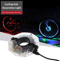 Wholesale light bike hubs for sale - Rechargeable Bicycle Cycling Hub Decoration Light Bike Safety Warning Wheel Lamp