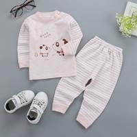 ingrosso abiti mk-Cartoon Bambini Pigiama Set Bambini Sleepwear Suit T-shirt Pantaloni Boy Abbigliamento neonato pijama Top Pant MK-003