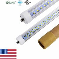 Wholesale cree 65w - 8ft V Shaped single pin fa8 led tube 65W 72W Double Sides smd2835 Led Light Tubes 8ft led light tubes AC 85-265V UL