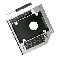 "Wholesale Hdd For Asus - 12.7mm 2.5"" SATA Aluminum SATA 2nd Hard Disk Drive SSD HDD Caddy Adapter bay for ASUS X55A X55C X55CR X55Sa X55SR X55SV Series"