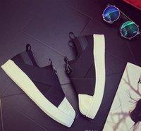 gute sommerturnschuhe großhandel-Gute Qualität! Sommer SUPERSTAR SLIP ON Sandalen Müßiggänger für Männer Frauen Kopf gekreuzt Gurt schwarz und weiß niedrig Tops Unisex Turnschuhe 36-44