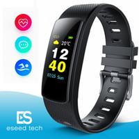 pulsera inteligente i6 al por mayor-i6 HRC Pulsera Inteligente Rastreador de Ejercicios Pantalla a Color Reloj de Ejercicios Rastreador de Actividades Banda Inteligente monitor de ritmo cardíaco Pulsera Bluetooth
