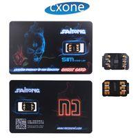 x sim sim libre al por mayor-La última versión y el Ghost original desbloquean la tarjeta SIM 4G LTE para iPhone 7 8 X XS MAX con DHL gratis