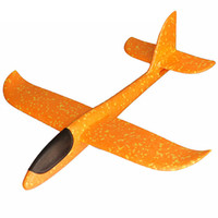 детские игрушки для мальчиков оптовых-1Pcs Hot EPP Foam Hand Throw Airplane Outdoor Launch Glider Plane Kids Gift Toy 34.5*32*7.8cm Interesting Toys