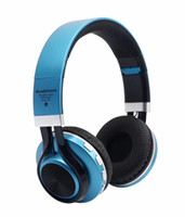 Wholesale Headphones Bluetooth Radio - HiFi Stereo Bluetooth Headphone Wireless Headset With Microphone Support FM Radio Micro-SD Card Play