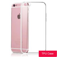 Wholesale Iphone Clear Case Full - For iPhone X 8 7 6 Plus Phone Case Transparent Soft TPU Cases 0.6mm Ultra Thin Full Body Protection Shockproof Clear Cover