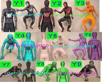 фэнтезийный мужской костюм оптовых-Унисекс 9 цвет лайкра спандекс Человек-Паук Костюм комбинезон костюмы унисекс Человек-паук герой костюм костюмы фэнтези супергерой Человек-Паук костюмы DH258