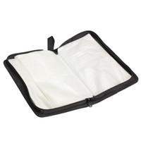 Wholesale dvd cases storage for sale - Group buy New Portable Disc CD Case Holder VCD DVD Storage Bag Wallet Holder Case Imitation leather Storage Box Organizer Black E5M1