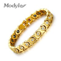 Wholesale health care magnetic bracelets resale online - Modyle New Women Bracelet Bangle Zircon Stone Hematite Magnetic Health Care Jewelry